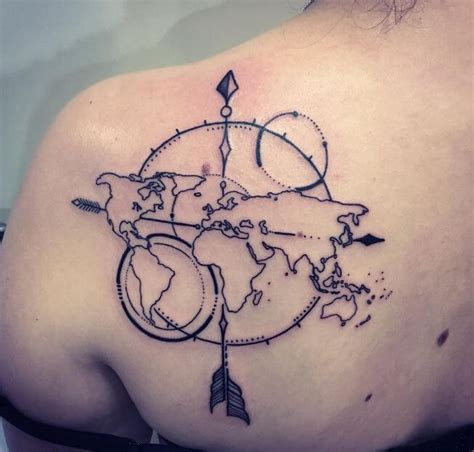 31 world map tattoos designs for travelers 2018