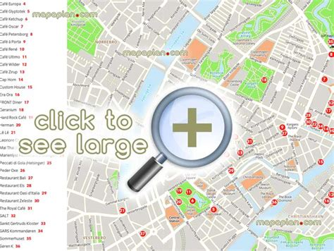 restaurant city layout guide copenhagen maps top tourist attractions free