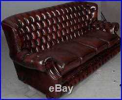 High Back Chesterfield Sofa Leather vintage antique style four seat high back leather chesterfield sofa antiques sofas