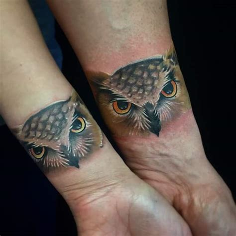 couple tattoo owl 60 couple tattoos to keep the love forever alive