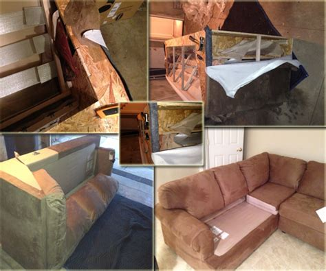 how to take apart a sofa bed couch disassemble service elevator before and after photo