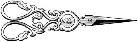 vintage scissors drawing transparent png stickpng