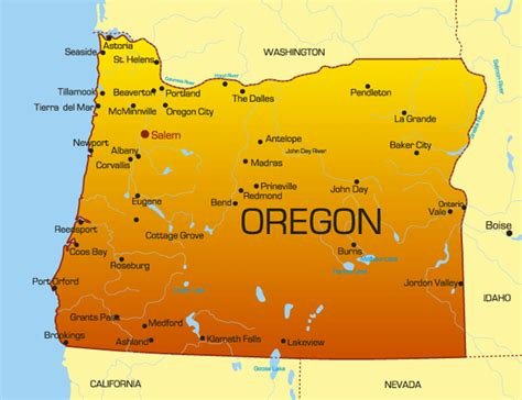 Oregon State Records Oregon State Map With Cities Blank Outline Map Of Oregon