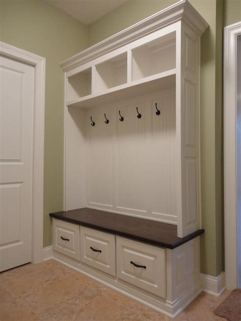 mudroom bench dimensions  woodworking