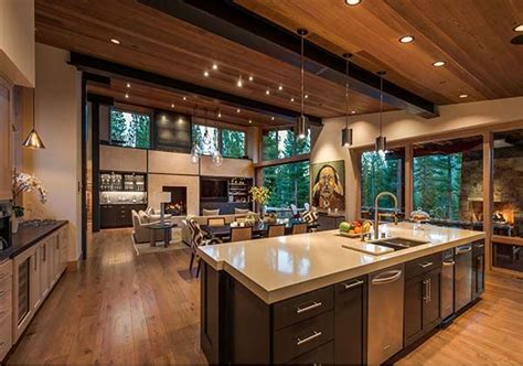 modern mountain home modern kitchen charlotte by mountain modern home perfect for entertaining in martis