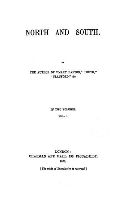 Elizabeth Gaskell – North and South (Chap. 1)   Genius