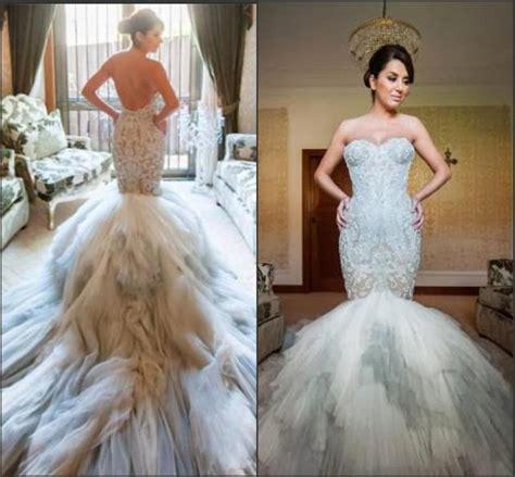 custom wedding dress new arrival mermaid wedding dresses pastels applique lace