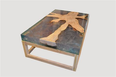 cracked resin coffee table st barts teak and cracked resin coffee table sbd8