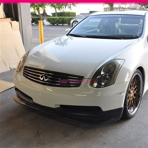 infiniti g35 gt fit 03 07 infiniti g35 coupe front bumper lip pu gt style