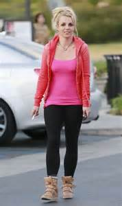 Britneys Wears Pink by Wear Tight Pink Top And Black 10