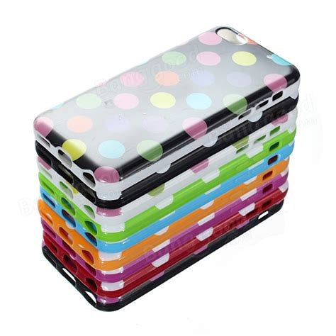 Hello Polkadot Tpu For Iphone 2 colorful tpu polka dot rubber skin gel cover for iphone 5c us 1 99 sold out