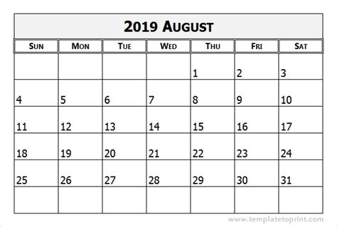 yearly calendar template photoshop august 2019 calendar template yearly printable calendar