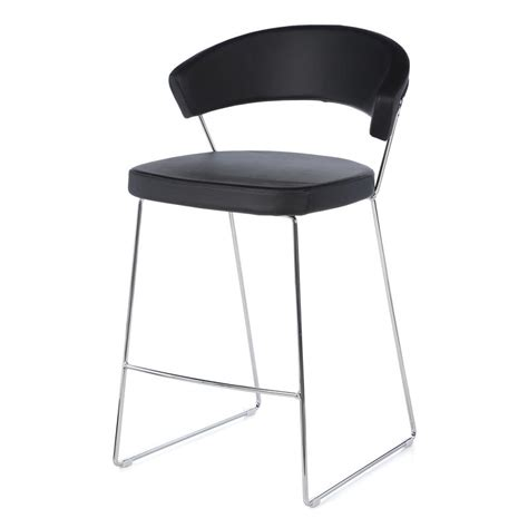 new bar stools new york leather counter stool by calligaris
