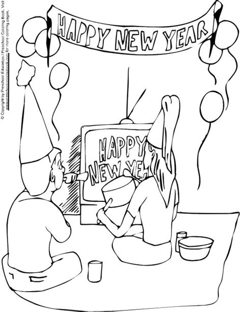 new year colouring pages preschool new year pages for kindergarten coloring pages