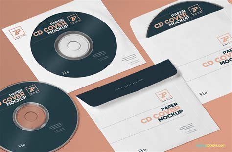 Free Paper Cd Cover Mockup Cd Mockup Psd Zippypixels Adobe Photoshop Cd Template