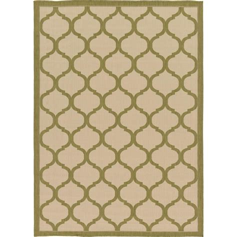 Green And Beige Area Rugs Unique Loom Outdoor Beige And Green 7 Ft X 10 Ft Area Rug 3127186 The Home Depot