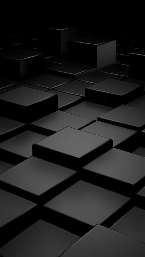 wallpaper 3d for iphone black 3d blocks the iphone wallpapers