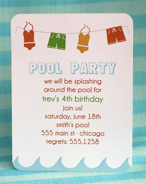 printable birthday invitations pool party printable pool party invitation birthday pinterest