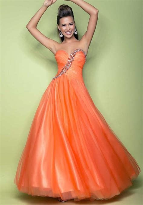 outrageous orange prom dresses 2013