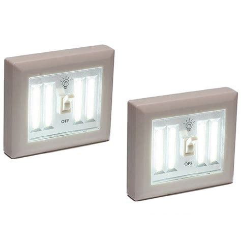 battery operated light switch 2 wireless light wall switch cob led 400 lumens