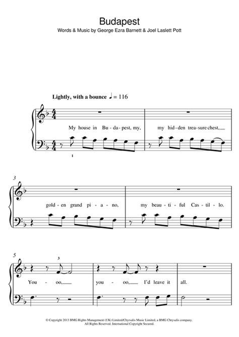 budapest by george ezra guitar chords lyrics guitar budapest sheet music by george ezra 5 finger piano 119472