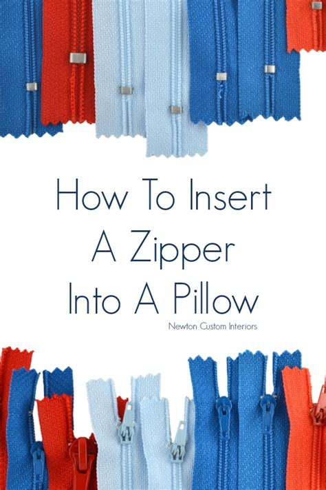 How To Install A Zipper In A Pillow by How To Put A Zipper In A Pillow Newton Custom Interiors