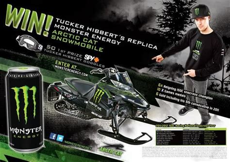 Snowmobile Giveaway - arctic cat monster energy join forces in snowmobile giveaway grand prize winner