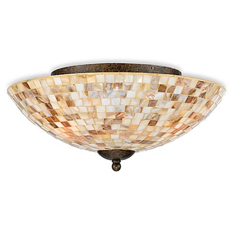 Mosaic Light Fixtures Buy Quoizel Monterey Mosaic Medium Floating Flush Mount Light Fixture From Bed Bath Beyond