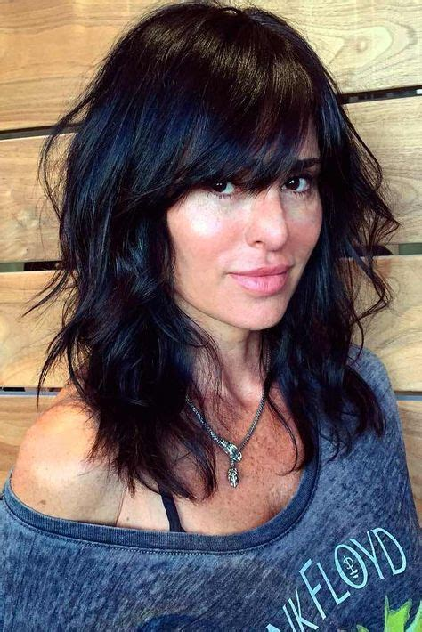 Medium Length Black Hairstyles With Bangs by Best 25 Thick Hair Ideas On