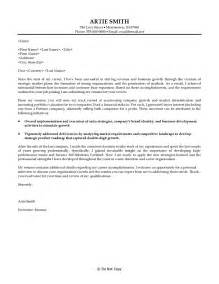 cover letter business development the letter sle