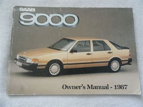 how to download repair manuals 1988 saab 9000 on board diagnostic system 1987 saab 9000 owners manual 87 ebay