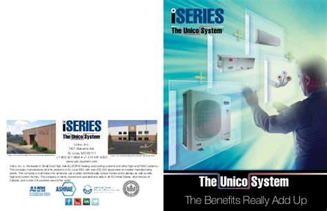 comfort one heating and cooling iseries duct and ductless heating and cooling system by