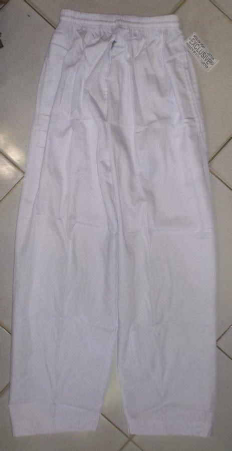 toko jual celana panjang haji santai putih