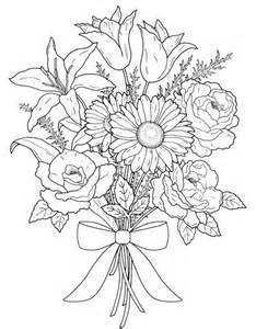 Galerry flower bunch coloring pages