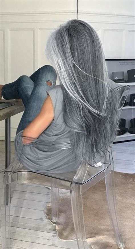 how to tteat grey hair for black women holy crap my hair is silver streaks over dark brown white