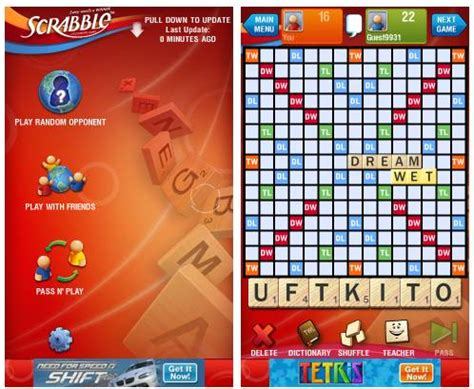 scrabble app without ads free multi player scrabble for android without single