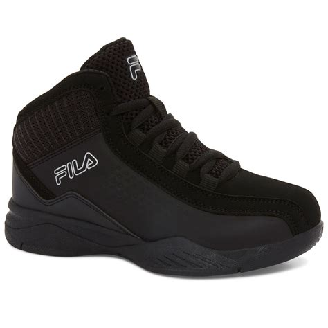 basketball shoes fila fila boys entrapment 3 basketball shoes black bob s stores
