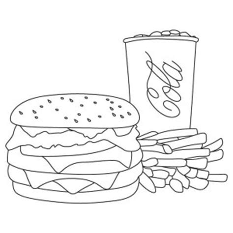 Hamburger And Fries Coloring Pages Coloring Pages Cheeseburger Coloring Page