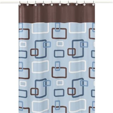 light blue and brown shower curtain buy brown shower curtains from bed bath beyond