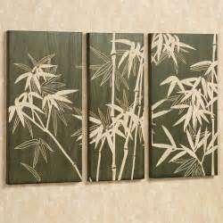 Wall Decor by Bamboo Grove Wooden Triptych Wall Art Set