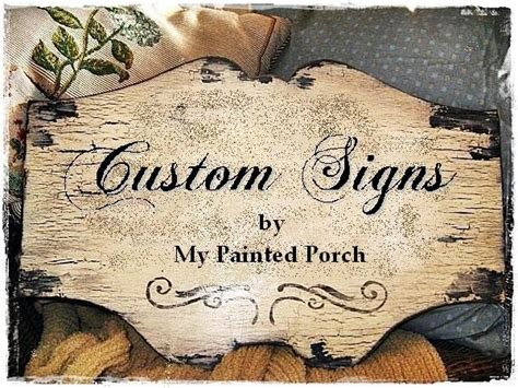 Handcrafted Signs - custom chippy vintage signs custom customized