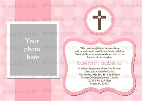 Chandeliers Pendant Lights Baptism Invitation Template Free