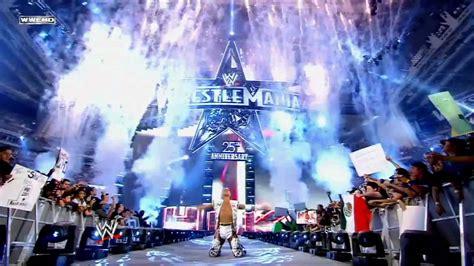 shawn michaels entrance  wwe wrestlemania   hbk