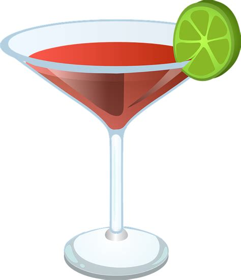 cocktail vector free vector graphic cocktail margarita martini drink