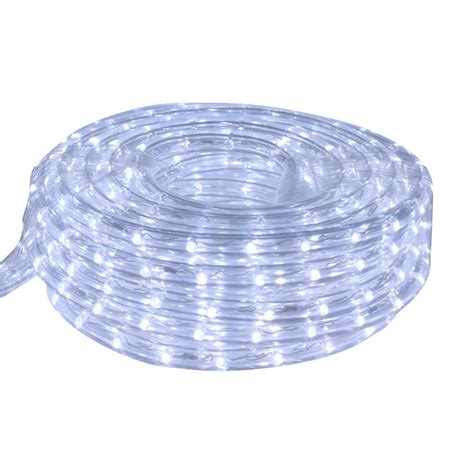 shop cascadia lighting 9 ft led cool white rope light at