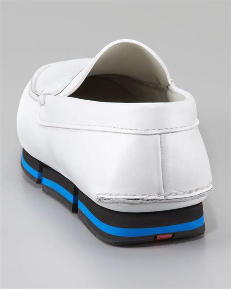 Gucci Rubber Sole 793 A128 prada loafer on sneaker bottom in white for lyst