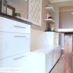 diy projects banquettes refrigerator cabinet and