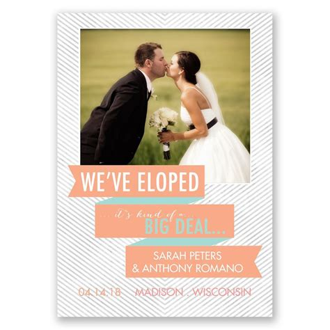 Wedding Invitations Deals by Big Deal Wedding Announcement Invitations By