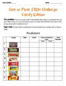 stem challenge sink or float candies for the classroom