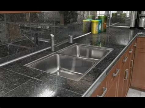 replace undermount kitchen sink tile countertop schluter 174 systems tiled under sink youtube